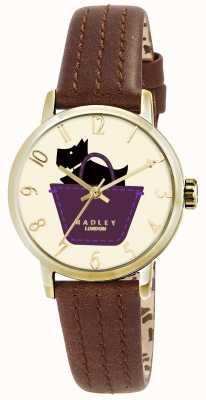 Radley montre à la frontière avec tan bracelet en cuir véritable RY2290