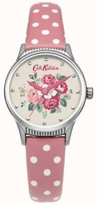 Cath Kidston Mesdames forêt tas tache rose montre en cuir CKL012PS