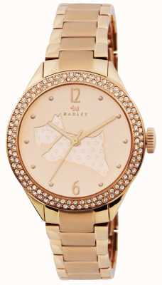Radley Les grands espaces rose bracelet plaqué or RY4190