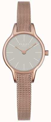 Radley Millbank cadran maille de granit rose plaqué or maille bracelet RY4250