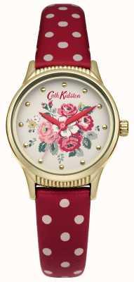 Cath Kidston Red polka dot bracelet cadran blanc CKL012RG
