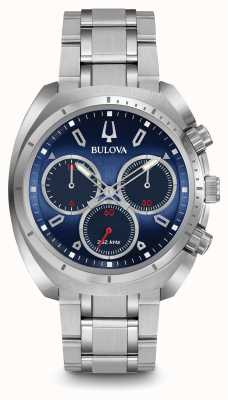 Bulova Mens bleu curv chronographe 96A185