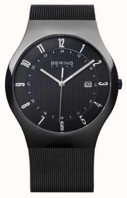 Bering Bracelet en maille milanaise noire pour homme 14640-222