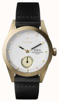 Triwa Womans ivoire aska en cuir noir AKST101-SS010113