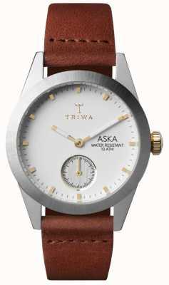 Triwa Womans neige cuir aska brun AKST102-SS010213