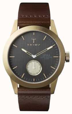 Triwa ash Mens spira cuir marron SPST101-CL010413
