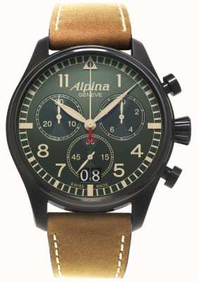 Alpina pilote chronographe quartz Mens AL-372GR4FBS6