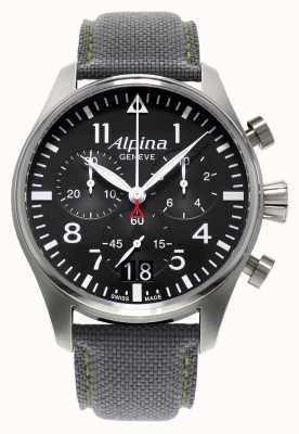 Alpina Montre chronographe à quartz pour homme AL-372B4S6