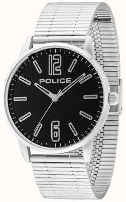 Police Mens acier inoxydable esquire billette noir 14765JS/02M