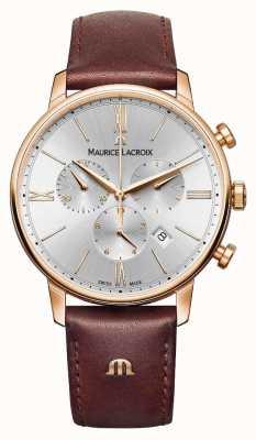 Maurice Lacroix Eliros 40mm Montre homme cuir brun rose doré EL1098-PVP01-111-1