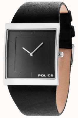 Police Mens skyline cuir noir cadran bracelet gun 14694MS/61