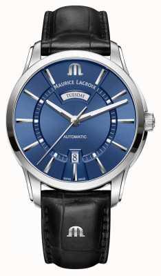 Maurice Lacroix Hommes pontos bleu automatique PT6358-SS001-430-1