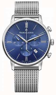 Maurice Lacroix de Mens chronographe bracelet en maille bleu EL1098-SS002-410-1