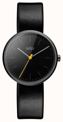 Braun Womans mince bracelet en cuir noir BN0172BKBKL