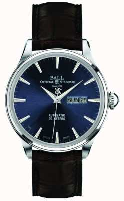 Ball Watch Company Trainmaster à cadran bleu éternité NM2080D-LJ-BE