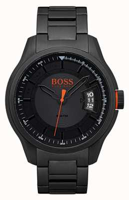Hugo Boss Orange Hong kong noir montre en acier inoxydable 1550005