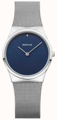 Bering Cadran bleu en maille classique Womans 12130-007