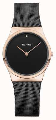Bering Étui en or noir rose pour femme 12130-166