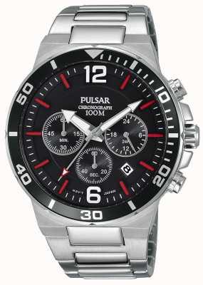 Pulsar Montre chronographe en acier inoxydable 100% Gents PT3797X1