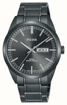Pulsar Montre en acier inoxydable gris Gents PJ6075X1