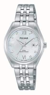 Pulsar Cadran perlé en cristal en acier inoxydable PH7453X1