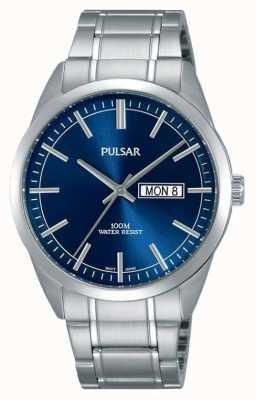 Pulsar Montre à visage bleu en acier inoxydable Gents PJ6073X1