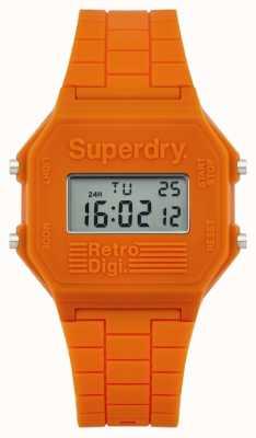 Superdry Mens retro digi orange silicone SYG201O