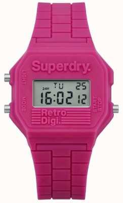 Superdry Womans retro digi pink silicone SYL201P