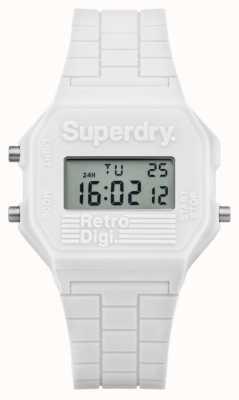 Superdry Rétro digi silicone blanc SYL201W