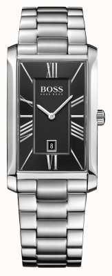 Hugo Boss Mens bracelet amiral en acier inoxydable cadran noir 1513439