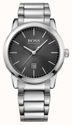 Hugo Boss Mens classique en acier inoxydable cadran noir 1513398
