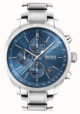 Hugo Boss Mens grand prix cadran bleu en acier inoxydable 1513478