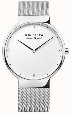 Bering Mens max rené sangle à mailles interchangeables argent 15540-004