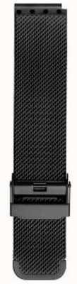 Bering Bracelet en maille noire milanaise pour homme PT-15540-BMBX