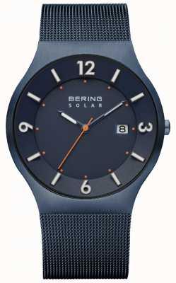 Bering Bracelet maille milanese bleu solaire pour homme 14440-393