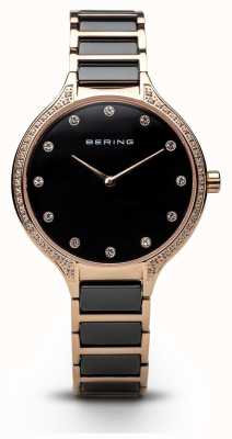 Bering Montre en dentelle noir en zirconie 30434-746