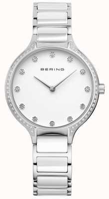 Bering Montre à main en zircone en céramique blanche 30434-754