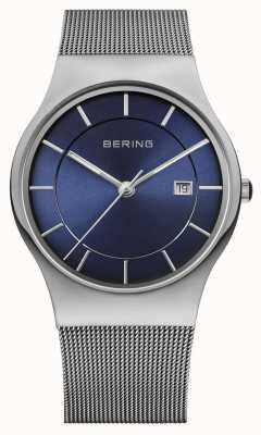 Bering Montre en maille bleue pour mite milanaise 11938-003