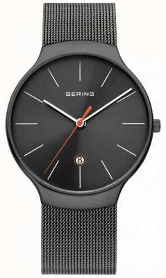 Bering Bracelet en maille grise millanaise classique pour homme 13338-077