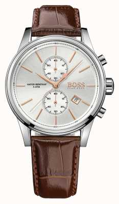 Hugo Boss jet Gents chrono cuir marron 1513280