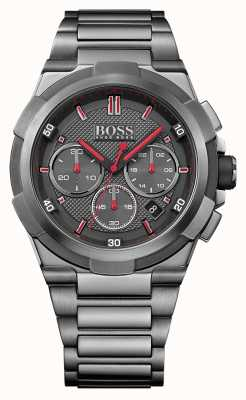 Hugo Boss Mens supernova gris montre en acier inoxydable 1513361