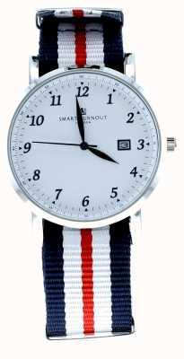 Smart Turnout Savant montre blanc argenté avec bracelet harvard STH5/SW/56/W