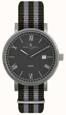 Smart Turnout Comté de montre noire avec bracelet nato STK1/BK/56/W