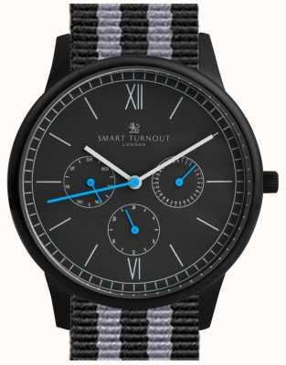 Smart Turnout Montre Time - noir avec bracelet nato STK2/BK/56/W