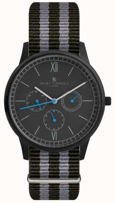Smart Turnout Montre Time - noir avec bracelet nato STK2/BK/56/W