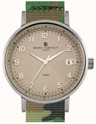 Smart Turnout Scholar montre beige avec montre camo STH3/BE/56/W