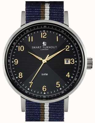 Smart Turnout montre Scholar noir avec sangle de pb STH3/BK/56/W