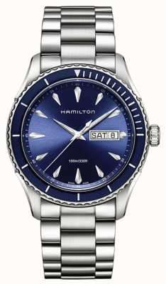 Hamilton Mens jazzmaster seaview date de jour bleu H37551141