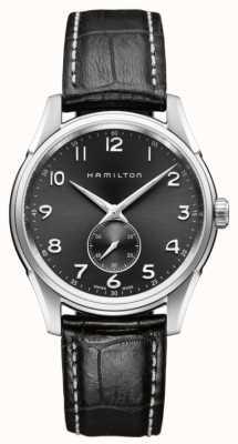 Hamilton Mens jazzmaster thinline petite seconde de noir de quartz H38411783