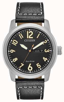 Citizen Mens Eco Drive cuir noir chandler BM8471-01E